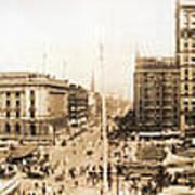 Public Square Cleveland Ohio 1912 Art Print