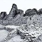 Pueblo Bonito In Black Art Print