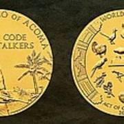 Pueblo Of Acoma Tribe Code Talkers Bronze Medal Art Art Print