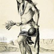 Pueblo Zuni Buffalo Dance, 1850s Art Print