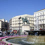 Puerta Del Sol In Madrid Art Print