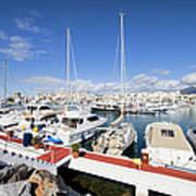 Puerto Banus Marina In Spain Art Print
