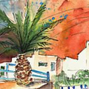 Puerto Carmen Sunset In Lanzarote Art Print