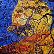 Puffer Fish Rising Art Print