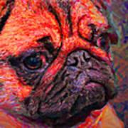 Pug 20130126v2 Art Print