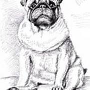 Pug Anton Art Print