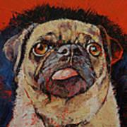 Pug Portrait Art Print
