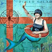 Puget Sound Mermaid  Art Print