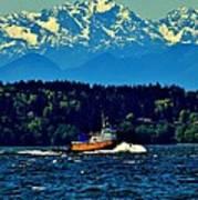 Puget Sound Tugboat Art Print