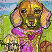 Puggle Puppy Love Art Print