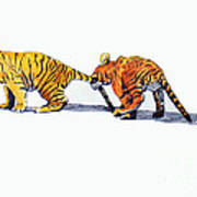 Pulling A Tiger By The Tail Art Print