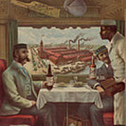 Pullman Compartment Cars Ad Circa 1894 Art Print