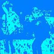 Pulp Fiction Dance Blue Art Print