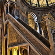 Pulpit In The Aya Sofia Museum In Istanbul  Art Print by David Smith