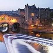 Pulteney Bridge And Weir Bath Art Print