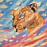 Puma On Watch Art Print