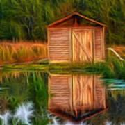Pump House Reflection Art Print