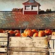 Pumpkin Crates Barn  Art Print