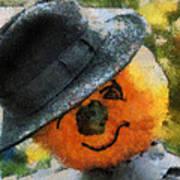 Pumpkin Face Photo Art 06 Art Print