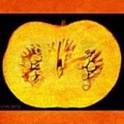 Pumpkin Half Art Print
