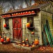 Pumpkin House Art Print