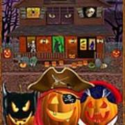 Pumpkin Masquerade Art Print