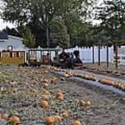 Pumpkin Train Art Print