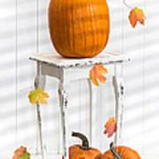 Pumpkins For Thanksgiving Art Print