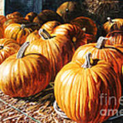Pumpkins In The Barn Art Print