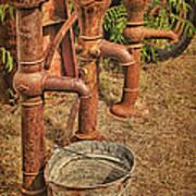 Pumps Gone Dry Art Print