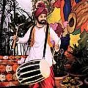 Punjabi Dhol Art Print
