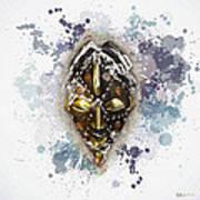 Punu Prosperity Mask Art Print