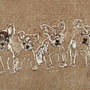 Puppy Brigade Art Print
