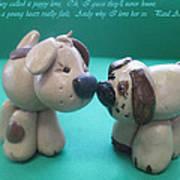 Puppy Love Art Print by Barbara Snyder