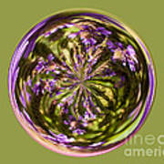Purpble Wildflower Orb Art Print