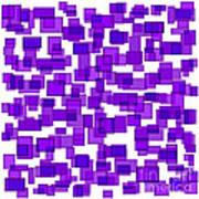 Purple Abstract Art Print by Frank Tschakert