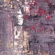 Vineyard - Purple And Beige Abstract Art Painting Art Print
