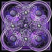 Purple And Silver Celtic Cross Art Print