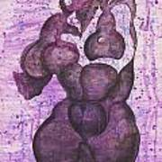 Purple Black Woman Art Print