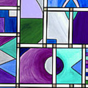 Purple -blue -green  Abstract 2 Art Print