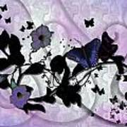 Purple Butterflies Art Print