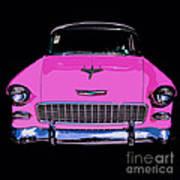 Purple Chevy Pop Art Art Print