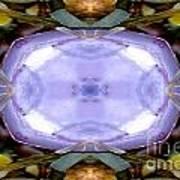 Purple Clam Shell Mandala Yantra Art Print by Marie Jamieson