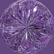 Purple Crystal Gem Art Print