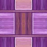 Purple Dreams Squares Art Print
