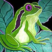 Purple Eyed Frog Art Print