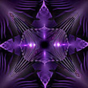 Purple Fingerz Art Print