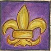 Purple Fleur De Lis Art Print