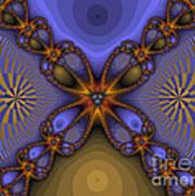Purple  Flower Fractal Art Print