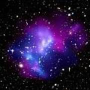 Purple Galaxy Cluster Macs J0717 Art Print